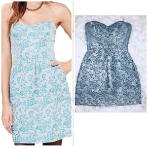 Urban Outfitters Kimichi Blue Strapless Dress-S